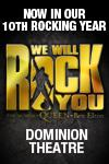 Please click We Will Rock You theatre ticket offer